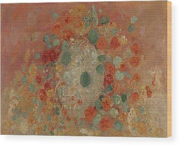 Nasturtiums Wood Prints
