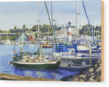 Harbor Scene Wood Prints