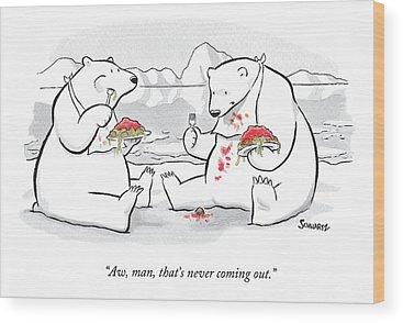 Polar Bear Wood Prints