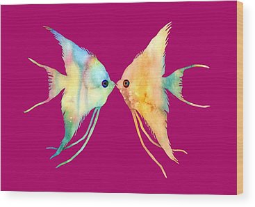 Angelfish Wood Prints