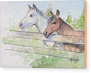 Horse Portraits Wood Prints