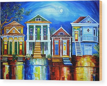 New Orleans House Wood Prints