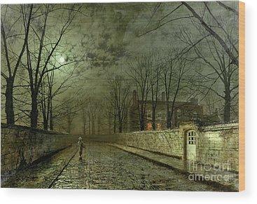 Silver Moonlight Wood Prints