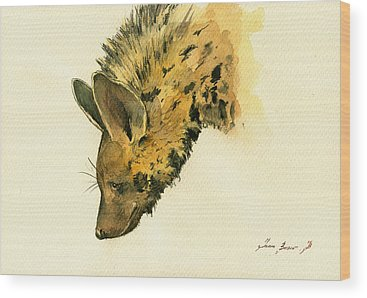 Hyena Wood Prints
