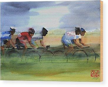 Le Tour De France Wood Prints