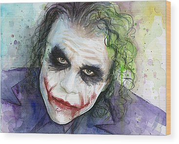 Heath Ledger Wood Prints