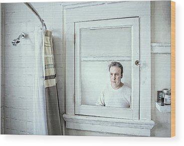 Shower Curtain Wood Prints