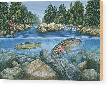 River Wood Prints