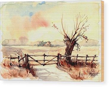 Paysage Wood Prints
