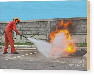 Firefighter Wood Prints