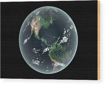 Earth Changes Wood Prints