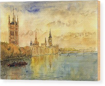 Big Ben Wood Prints