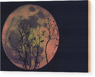 Moon Wood Prints