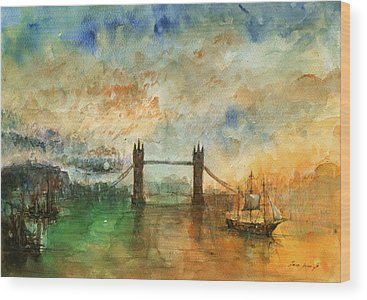 Tower Bridge London Wood Prints