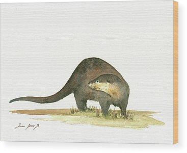 Otter Wood Prints