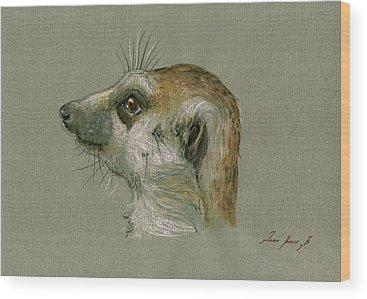 Meerkat Wood Prints