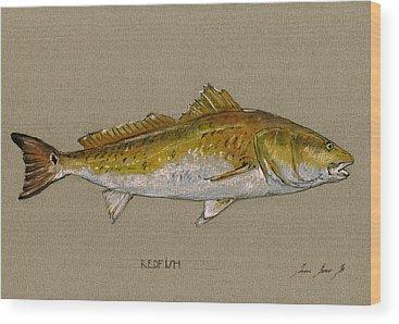 Fishing Wood Prints