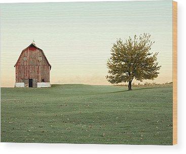 Red Barn Wood Prints