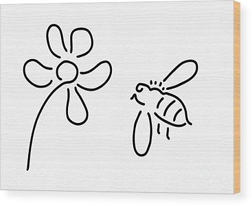 Bees Wood Prints
