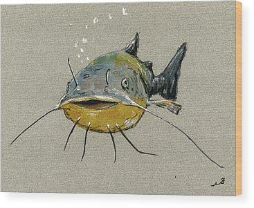 Catfish Wood Prints
