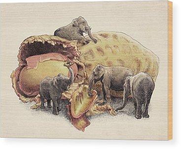 Peanut Wood Prints