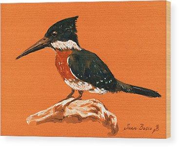 Kingfisher Wood Prints