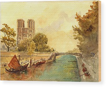 Seine River Wood Prints