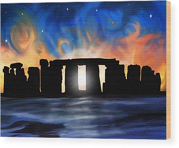 Stonehenge Wood Prints