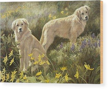 Golden Retriever Wood Prints