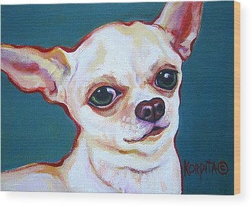Chiwawa Portrait Wood Prints