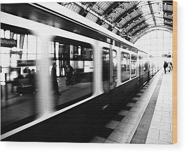 Railway Station Photographs Wood Prints