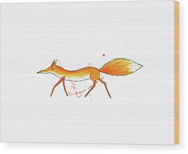 Whimsical Animals Wood Prints