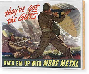 World War Wood Prints