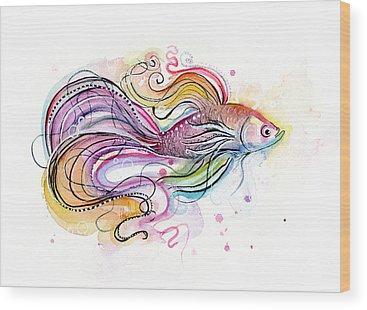 Colorful Fish Wood Prints