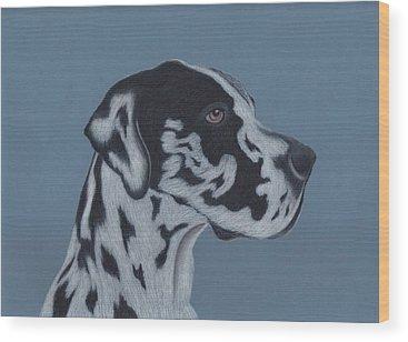 Great Dane Wood Prints