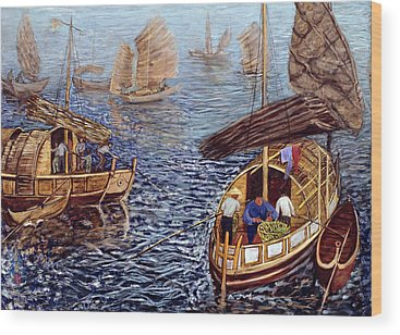 Chinese Junk Wood Prints