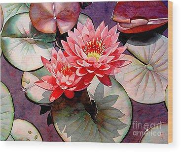 Waterlily Wood Prints