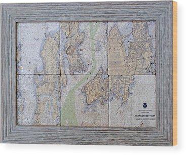 Noaa Chart Wood Prints