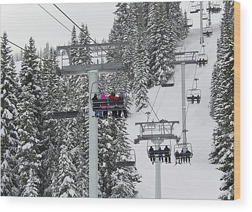 Chairlift Wood Prints