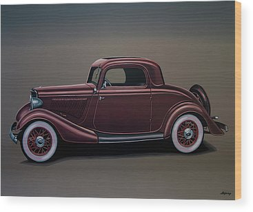 General Motors Automobiles Wood Prints