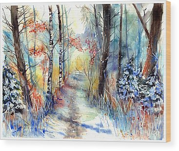 First Snow Wood Prints
