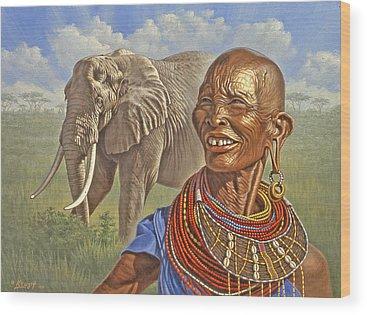 Kenya Wood Prints