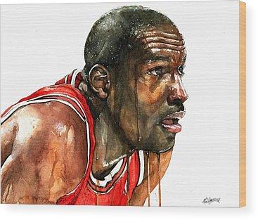 Michael Jordan Wood Prints
