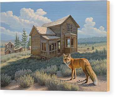 Ghost Towns Wood Prints