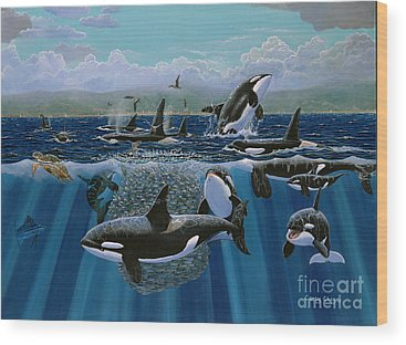 Killer Whales Wood Prints