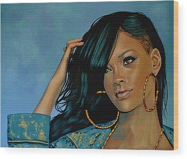 Rihanna Wood Prints