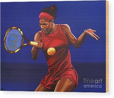 Serena Williams Wood Prints