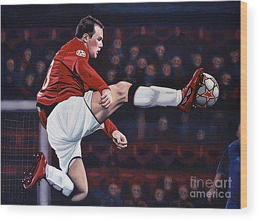 Wayne Rooney Wood Prints
