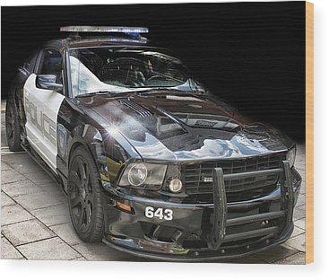 Patrol Cars Wood Prints
