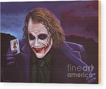 The Joker Wood Prints